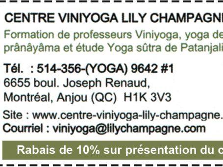Centre Viniyoga Lily Champagne