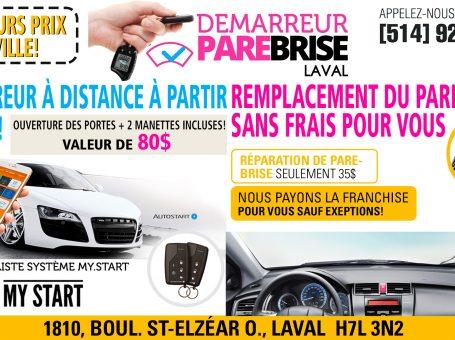 Démarreur Parebrise Laval