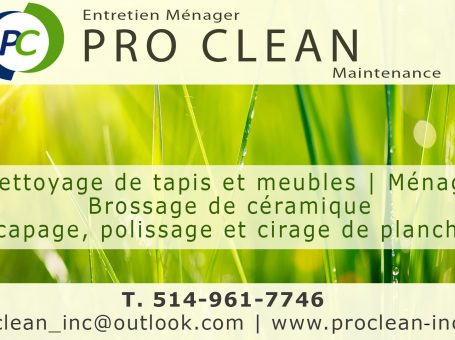 Entretien Ménager Pro Clean